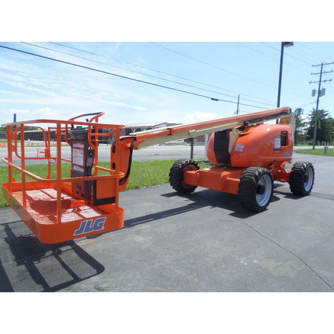 2007 JLG 600A ARTICULATING BOOM LIFT AERIAL LIFT 60' REACH DUAL FUEL 4WD 3452 HOURS STOCK # BF9318959-PAB