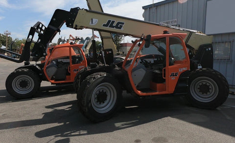 2021 JLG 742 7000 LB DIESEL TELESCOPIC FORKLIFT TELEHANDLER PNEUMATIC FOAM FILLED TIRES 4WD AUXILIARY HYDRAULICS BRAND NEW STOCK # BF9878129-VAOH - United Lift Equipment LLC