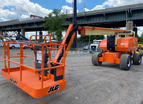 2013 JLG 800AJ TELESCOPIC ARTICULATING BOOM LIFT AERIAL LIFT WITH JIB ARM 80' REACH DIESEL 4WD 1960 HOURS STOCK # BF9547549-NLEQ