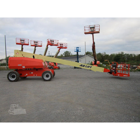 2011 JLG 800S TELESCOPIC BOOM LIFT AERIAL LIFT 80' REACH DIESEL 4WD 2806 HOURS STOCK # BF9628339-689-BNYB