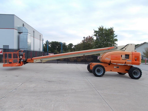2016 (refurbed in 2014 by JLG) JLG 800S TELESCOPIC STRAIGHT BOOM LIFT AERIAL LIFT 80' REACH DIESEL 4WD STOCK # BF9499859-RIL
