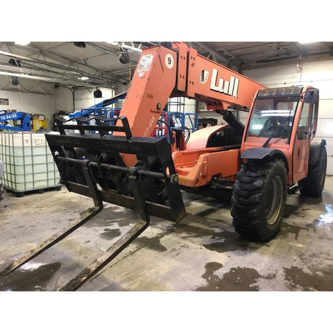 2007 LULL 944E-42 9000 LB DIESEL TELESCOPIC FORKLIFT TELEHANDLER PNEUMATIC 4WD ENCLOSED CAB 2645 HOURS STOCK # BF934929-BUF