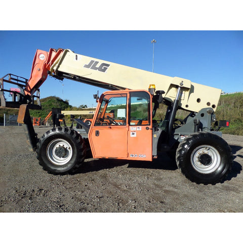 2010 JLG G10-55A 10000 LB DIESEL ENCLOSED CAB TELESCOPIC FORKLIFT TELEHANDLER PNEUMATIC 4WD 7823 HOURS STOCK # BF9561789-699-VAOH - United Lift Used & New Forklift Telehandler Scissor Lift Boomlift