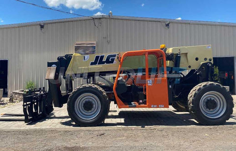 2014 JLG G10-55A 10000 LB DIESEL TELESCOPIC FORKLIFT TELEHANDLER PNEUMATIC 4WD SWING CARRIAGE OUTRIGGERS 2179 HOURS STOCK # BF9645199-NLEQ