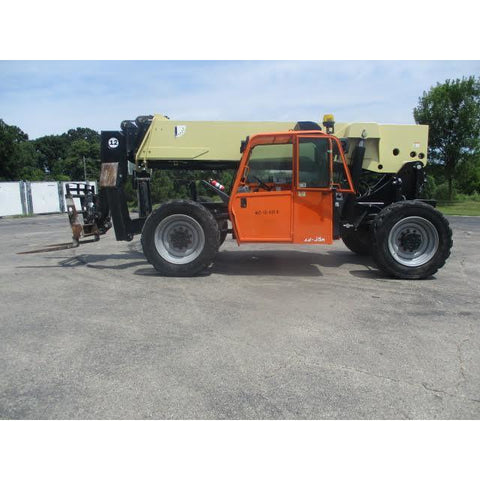 2013 JLG G12-55A 12000 LB DIESEL TELESCOPIC FORKLIFT TELEHANDLER PNEUMATIC 4WD 7395 HOURS STOCK # BF9713959-799-WIB