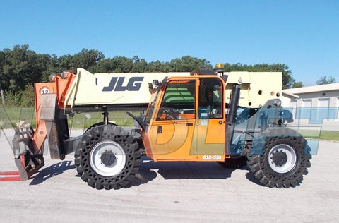 2013 JLG G12-55A 12000 LB DIESEL TELESCOPIC FORKLIFT TELEHANDLER PNEUMATIC 4WD ENCLOSED HEATED CAB 3200 HOURS STOCK # BF9621179-RIL