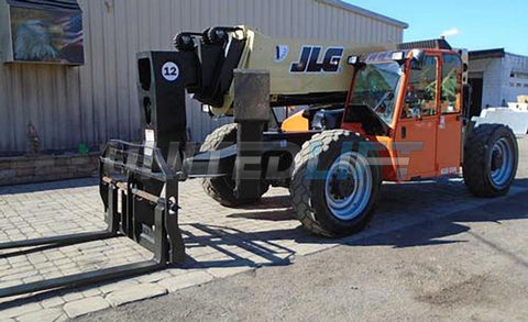2012 JLG G12-55A 12000 LB DIESEL TELESCOPIC FORKLIFT TELEHANDLER PNEUMATIC 4WD OUTRIGGERS ENCLOSED CAB 3789 HOURS STOCK # BF9647529-NLEQ
