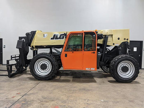 2013 JLG G12-55A 12000 LB DIESEL TELESCOPIC FORKLIFT TELEHANDLER PNEUMATIC 4WD OUTRIGGERS ENCLOSED CAB 2638 HOURS STOCK # BF9601149-ILIL