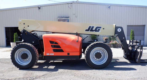2013 JLG G9-43A 9000 LB DIESEL TELESCOPIC FORKLIFT TELEHANDLER PNEUMATIC 4WD ENCLOSED HEATED CAB 3299 HOURS STOCK # BF9498749-NLEQ