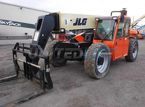 2013 JLG G9-43A 9000 LB DIESEL TELESCOPIC FORKLIFT TELEHANDLER PNEUMATIC 4WD ENCLOSED CAB AUXILIARY HYDRAULICS 2549 HOURS STOCK # BF9547589-NLEQ