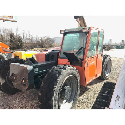 2012 JLG G9-43A 9000 LB DIESEL TELESCOPIC FORKLIFT TELEHANDLER PNEUMATIC 4WD ENCLOSED CAB 4900 HOURS STOCK # BF9558529-699-WIB - United Lift Used & New Forklift Telehandler Scissor Lift Boomlift