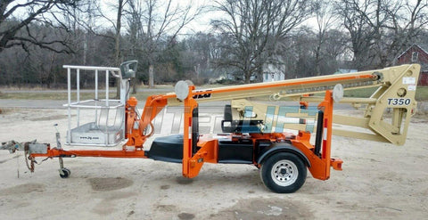 2010 JLG T350 TOWABLE BOOM LIFT AERIAL LIFT 35' REACH 275 HOURS STOCK # BF9125349-EBWI