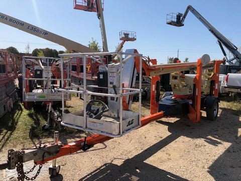 2010 JLG T500J TOWABLE BOOM LIFT AERIAL LIFT 50' REACH 357 HOURS STOCK # BF9249659-329-WIB