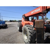 2009 SKYTRAK 10054 10000 LB DIESEL TELESCOPIC FORKLIFT TELEHANDLER PNEUMATIC 4WD ENCLOSED CAB 3918 HOURS STOCK # BF9647529-749-BNYB