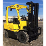 2006 HYSTER H50FT 5000 LB LP GAS FORKLIFT PNEUMATIC 83/189 3 STAGE MAST STOCK # BF9154799-INB - Buffalo Forklift LLC