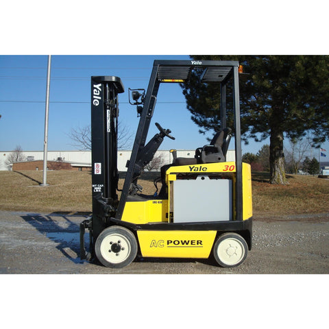 2007 YALE ERC030AHN36TE094 3000 LB ELECTRIC FORKLIFT 94/216 3 STAGE MAST SIDE SHIFTER 3236 HOURS STOCK # BF992089-INB - Buffalo Forklift LLC