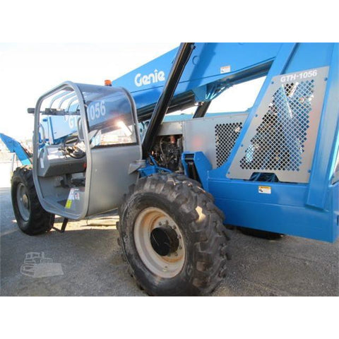 2006 GENIE GTH1056 10000 LB DIESEL TELESCOPIC FORKLIFT TELEHANDLER PNEUMATIC 4WD 4190 HOURS STOCK # BF9598759-699-FILB