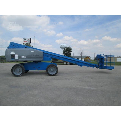 2006 GENIE S60 TELESCOPIC BOOM LIFT AERIAL LIFT 60' REACH DUAL FUEL 4WD 3482 HOURS STOCK # BF9258819-FILB - Buffalo Forklift LLC