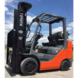 2010 TOYOTA 8FGCU30 6000 LB LP GAS FORKLIFT CUSHION 87/187 3 STAGE MAST SIDE SHIFTER 7127 HOURS STOCK # BF9150239-INB **OWN FOR ONLY $383 PER MONTH**
