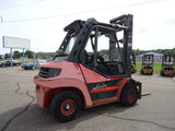 "2010 LINDE H80D 17500 LB DIESEL FORKLIFT PNEUMATIC 127/163"" 2 STAGE MAST 6024 HOURS STOCK # BF9287989-CNT - united-lift-equipment"