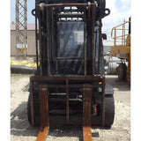 2012 LINDE H80D 17000 LB DIESEL FORKLIFT PNEUMATIC 107/124 2 STAGE MAST ENCLOSED CAB 5966 HOURS STOCK # BF9289579-499-CONB
