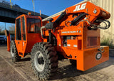 2011 LULL 1044C-54 10000 LB DIESEL TELESCOPIC FORKLIFT TELEHANDLER PNEUMATIC 4WD ENCLOSED CAB OUTRIGGERS 3222 HOURS STOCK # BF9595129-NLEQ