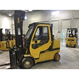 2014 YALE GC120SVX 12000 LB DIESEL FORKLIFT 106/220 3 STAGE MAST CUSHION ENCLOSED CAB 5175 HOURS STOCK # BF9301219-ALTB