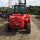 2012 Manitou M40-2 8000 LB DIESEL PNEUMATIC FORKLIFT 2WD ENCLOSED CAB 117/163 2 STAGE MAST SIDE SHIFTER 1300 HOURS STOCK # BF94198439-549-MYROH