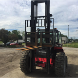 2012 Manitou M40-2 8000 LB DIESEL PNEUMATIC FORKLIFT 2WD ENCLOSED CAB 117/163 2 STAGE MAST SIDE SHIFTER 1300 HOURS STOCK # BF239660-MYROH ** ONLY $1,058.00 PER MONTH **