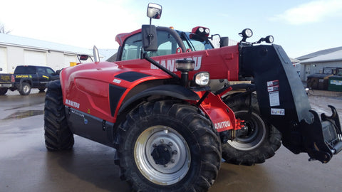 2014 MANITOU MLT 840-115PS 9000 LB DIESEL PNEUMATIC TELEHANDLER ENCLOSED CAB 25' REACH 350 HOURS STOCK # BF91087219-MIB - united-lift-equipment