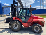 "2014 MANITOU M50-4 11000 LB DIESEL ROUGH TERRAIN FORKLIFT 4WD 121/197"" 2 STAGE MAST ENCLOSED CAB 7100 HOURS STOCK # BF9399849-ATMD - United Lift Used & New Forklift Telehandler Scissor Lift Boomlift"