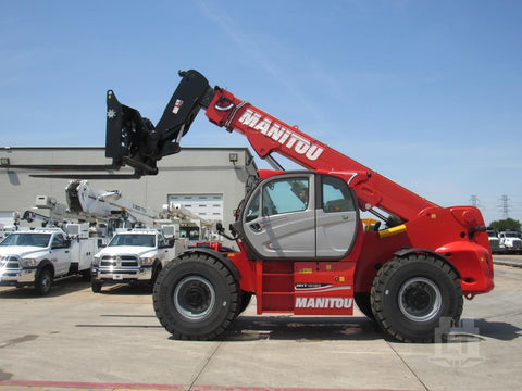 2017 MANITOU MHT10180 40000 LB DIESEL PNEUMATIC TELEHANDLER ENCLOSED CAB 31' REACH BRAND NEW STOCK # BF92356679-CTMO