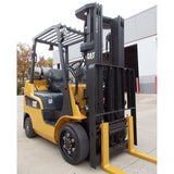 2013 MITSUBISHI CATERPILLAR FGC25N 5000 LB LP GAS FORKLIFT CUSHION 83/188 3 STAGE MAST SIDE SHIFTER 2544 HOURS STOCK # BF9146459-RILB