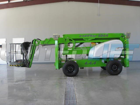 2020 NIFTYLIFT SD64 ARTICULATING BOOM LIFT AERIAL LIFT WITH JIB ARM 64' REACH DIESEL 4X4X4 BRAND NEW STOCK # BF9967129-SRSPA