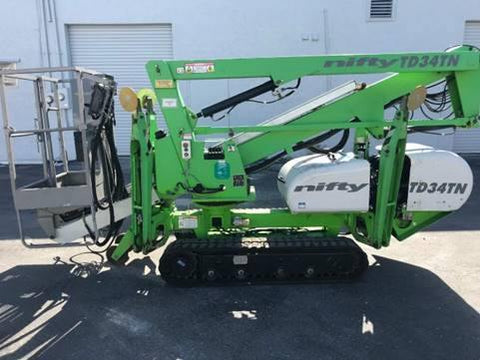 2012 NIFTYLIFT TD34TN BOOM LIFT AERIAL LIFT 34' REACH DIESEL & ELECTRIC ENGINE 1245 HOURS STOCK # BF9282439-ATFL