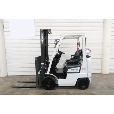 2014 NISSAN MAP1F1A18LV 3500 LB LP GAS FORKLIFT PNEUMATIC 89/203 3 STAGE MAST SIDE SHIFTER 4158 HOURS STOCK # BF46394-DPA