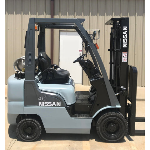 2010 NISSAN MP1F1A20LV 4000 LB LP GAS FORKLIFT PNEUMATIC TIRE 84/130 2 STAGE MAST 4422 HOURS STOCK # 11517-9G1168-ARB