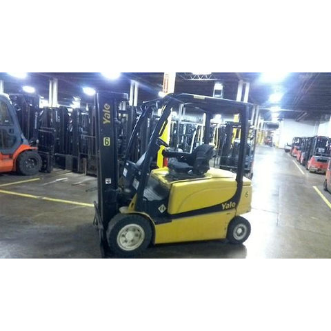 2010 YALE ERP050VL 5000 LB ELECTRIC CUSHION FORKLIFT 83/189 3 STAGE MAST 5605 HOURS STOCK # BF17775-ALTB