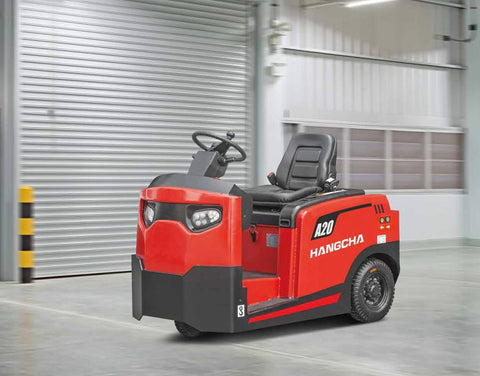 2019 HANGCHA A20-QDD20 4500 LB 48V ELECTRIC SIT DOWN TUGGER PNEUMATIC TIRE TOW TRACTOR STOCK # BF913229-PENC - united-lift-equipment