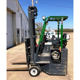 2015 COMBI C6000CB 6000 LB LP GAS FORKLIFT CUSHION 105/157 2 STAGE MAST SIDE SHIFTING FORK POSITIONER 3898 HOURS STOCK # BF9395129-CONB