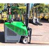 2012 COMBI CB6000 6000 LB LP GAS FORKLIFT CUSHION 125/185 2 STAGE MAST SIDE SHIFTING FORK POSITIONER 4988 HOURS STOCK # BF9389249-CONB