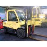 2014 HYSTER H100FT 10000 LB DIESEL FORKLIFT PNEUMATIC 99/134 2 STAGE MAST SIDE SHIFTER 8127 HOURS STOCK # BF9215139-319-CONB