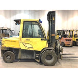 2012 HYSTER H120FT 12000 LB DIESEL FORKLIFT PNEUMATIC 111/155 2 STAGE MAST SIDE SHIFTER ENCLOSED CAB 1346 HOURS STOCK # BF19728-CONB