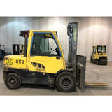 2014 HYSTER H120FT 12000 LB DIESEL FORKLIFT PNEUMATIC 109/149 2 STAGE MAST SIDE SHIFTING FORK POSITIONER 8253 HOURS STOCK # BF4406M-CONB ** ONLY $730.00 PER MONTH **