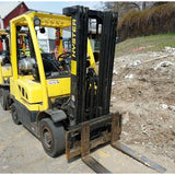2013 HYSTER H50FT 5000 LB LP GAS FORKLIFT PNEUMATIC 84/189 3 STAGE MAST SIDE SHIFTER 2832 HOURS STOCK # BF919967-CONB