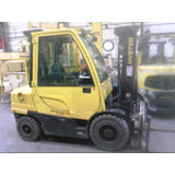 2014 HYSTER H70FT 7000 LB DIESEL FORKLIFT PNEUMATIC 87/181 3 STAGE MAST ROTATOR 4678 HOURS STOCK # BF821R3-CONB ** ONLY $538.00 PER MONTH **