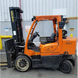 2011 HYSTER S155FT 15500 LB LP GAS FORKLIFT CUSHION 108/133 2 STAGE MAST FORK POSITIONER 1396 HOURS STOCK # BF9273659-379-CONB