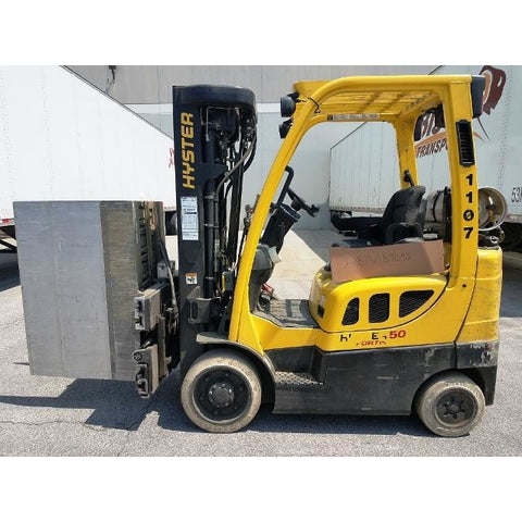 2011 HYSTER S50FT 5000 LB LP GAS FORKLIFT CUSHION 84/240 QUAD MAST SIDE SHIFTER 15482 HOURS STOCK # BF951799-999-CONB