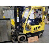 2011 HYSTER S50FT 5000 LB LP GAS FORKLIFT CUSHION 83/240 QUAD MAST SIDE SHIFTER 19738 HOURS STOCK # BF951879-999-CONB
