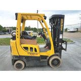 2011 HYSTER S50FT 5000 LB LP GAS FORKLIFT CUSHION 84/240 QUAD MAST SIDE SHIFTER 17387 HOURS STOCK # BF951879-999-CONB
